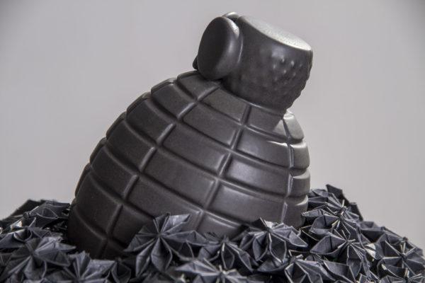 céramique<br>origami<br> 30X30X30cm